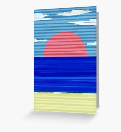 Paper Beach Greeting Card