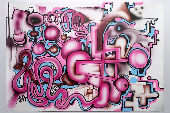 freehand airbrush and uni posca markers! by Andrew Hennig