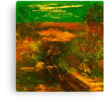 Towards Kilmore East VIC Australia (silk paint) Canvas Print