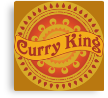 Curry King Indian Chef Eastern Asian Cuisine Lover Canvas Print