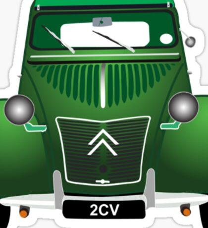Citroen 2CV Green Sticker