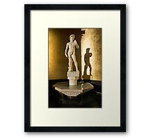 Michelangelo's David and his Shadow Framed Print