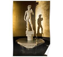 Michelangelo's David and his Shadow Poster