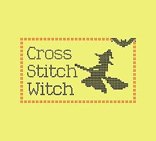 Funny Flying Broomstick Cross Stitch Witch by CreativeTwins