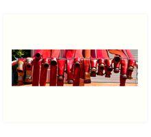 Fire hoses at rest Art Print