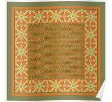 Tribal Rust Green Cream Mix'n'Match Patterns Poster