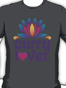 Thai Asian Cuisine Chef Curry Lover Lotus Flower T-Shirt