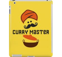 Funny Curry Master Indian Restaurant Chef Turban and Moustache iPad Case/Skin