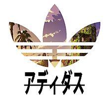 Adidas pixelated landscape Photographic Print
