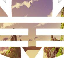 Adidas pixelated landscape Sticker