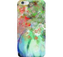 Floral Boquet in Blue, Green, and Red iPhone Case/Skin