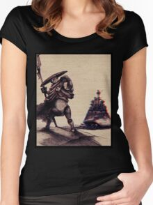 Wasteland Adventures in 3D! Women's Fitted Scoop T-Shirt