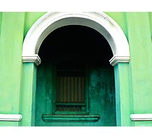 Old colonial window, Penang, Malaysia Photographic Print