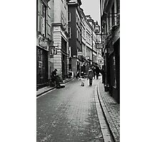 Walking in Gamla Stan Photographic Print