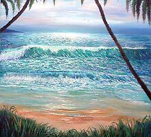 Hawaiin Afternoon Surf by gilgarcia