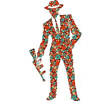 Gangster Flower Silhouette  Photographic Print