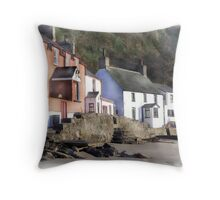 Porth Dinllaen, North Wales Throw Pillow