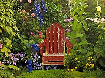 Old Chair InThe Garden by Linda Miller Gesualdo