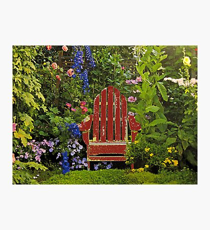 Old Chair InThe Garden Photographic Print