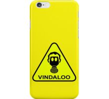 Funny Vindaloo Curry Gas Mask Yellow Warning Sign iPhone Case/Skin