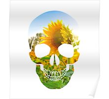 Skull Sunflower Poster