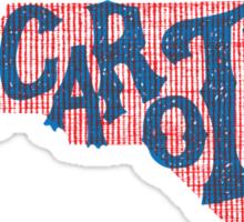 United Shapes of America - North Carolina Sticker