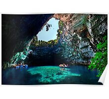Melissani cave-lake, Kefalonia island Poster