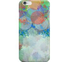 Decorative Flower Bouquet in Blue, Orange, Red, and Green iPhone Case/Skin