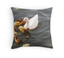 A dozen ducklings Throw Pillow
