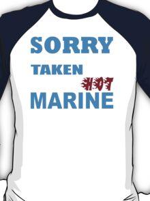 Sorry This Girl Is Already Taken By A Smokin Hot Marine - Custom Tshirt T-Shirt