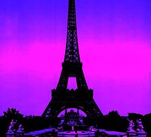 Eiffel Tower Silhouette by parakeetart