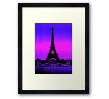 Eiffel Tower Silhouette Framed Print