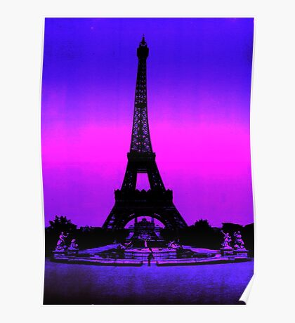Eiffel Tower Silhouette Poster