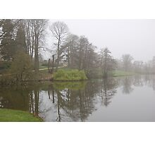 witley court lake in the mist Photographic Print