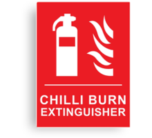 Funny Chilli Burn Fire Extinguisher Spicy Chilli Curry Canvas Print