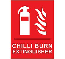 Funny Chilli Burn Fire Extinguisher Spicy Chilli Curry Photographic Print