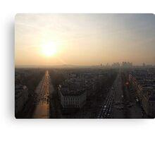 Rush hour in Paris Canvas Print
