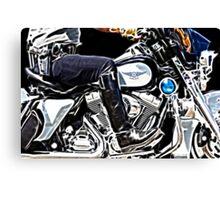 Motorcycle Cop Canvas Print