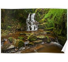Three Nooked Shaw Waterfall Poster