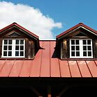 Windows on Top of an Alexandria Boathouse by Bine