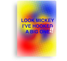 Look Mickey Canvas Print