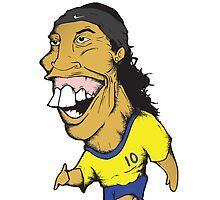Ronaldinho illustration by Marcus Lane illustration