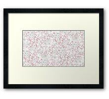 Mottled lilac Framed Print