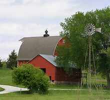 Red Barn and Windmill by Tony Weatherman