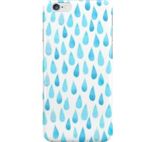 Raindrops watercolor iPhone Case/Skin