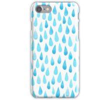Raindrops watercolor iPhone Case/Skin