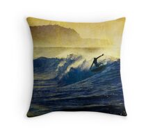 Hang Five Throw Pillow