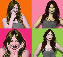 Shelley Hennig Pop Art by Rantsofafangirl