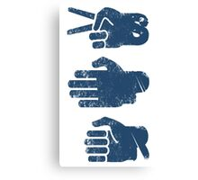 Rock Paper Scissors Canvas Print