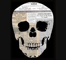 Skull Newsprint Zipped Hoodie